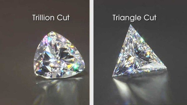 trillion tringle cut shape diamond