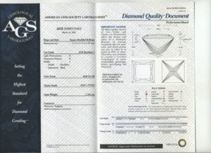 AGS report certificate